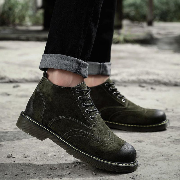 Men's New Wave Korean Version Of The Wild Personality Leather Boots