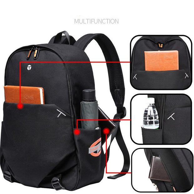 Men's waterproof large capacity travel laptop backpack