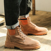 Men's Autumn Winter New British Wind Desert Tooling Military Boots
