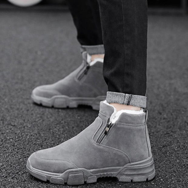 Men's Winter New Korean Version Of The Trend Of Fashion Men's Plus Velvet Warm Cotton Boots