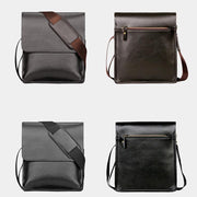 Men's Casual Leather Business Travel Shoulder Bag