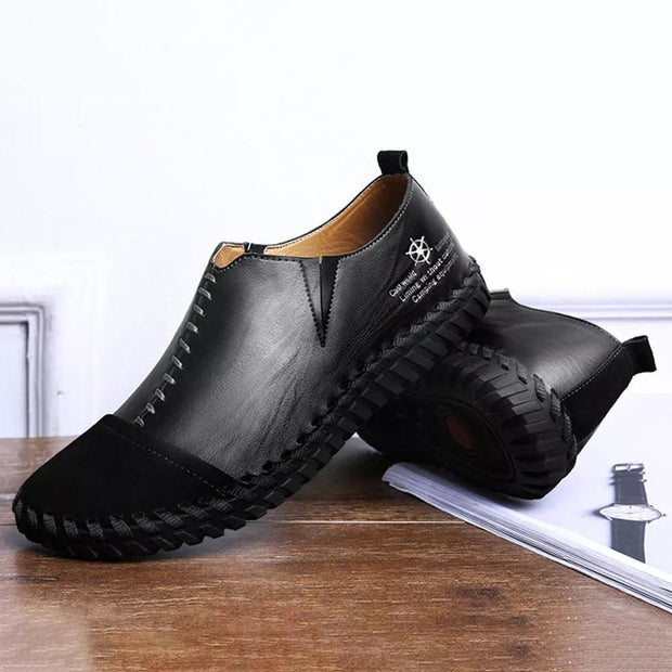 Men Soft Cowhide Spicing Hand Stitching Stylish Casual Oxfords