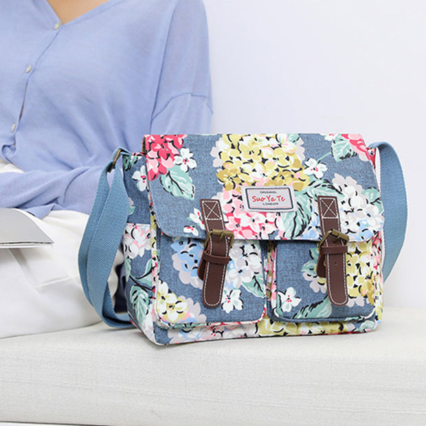 Women's Fashion Flower Trend Shopping Diagonal Shoulder Bag