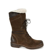 Women Casual Mid-Calf Faux Suede Low Heel Boots