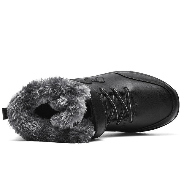 Men Suede Leather Non-slip Fur Warm Ankle Boots
