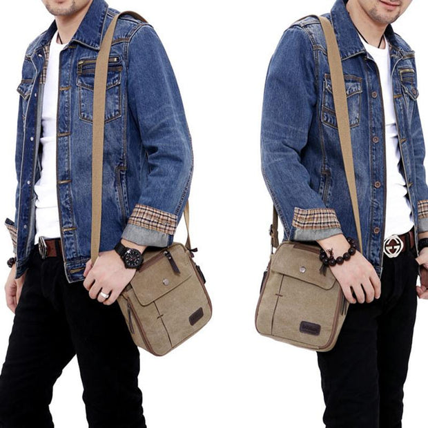 Men's Multi-function Canvas Travel Shoulder Bag
