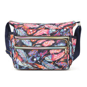Waterproof Floral Print Shoulder Bag