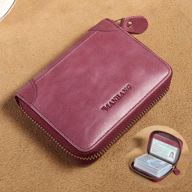 Anti-theft Compact Ultra-thin Card Case Wallet
