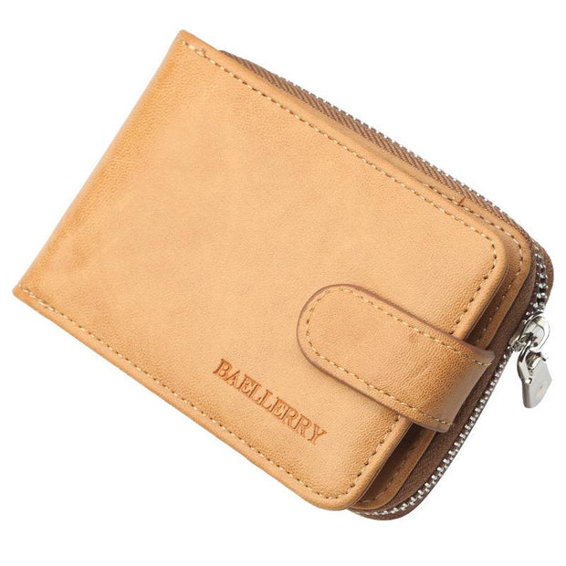 Men's Leather Organ Card Bag Short Wallet