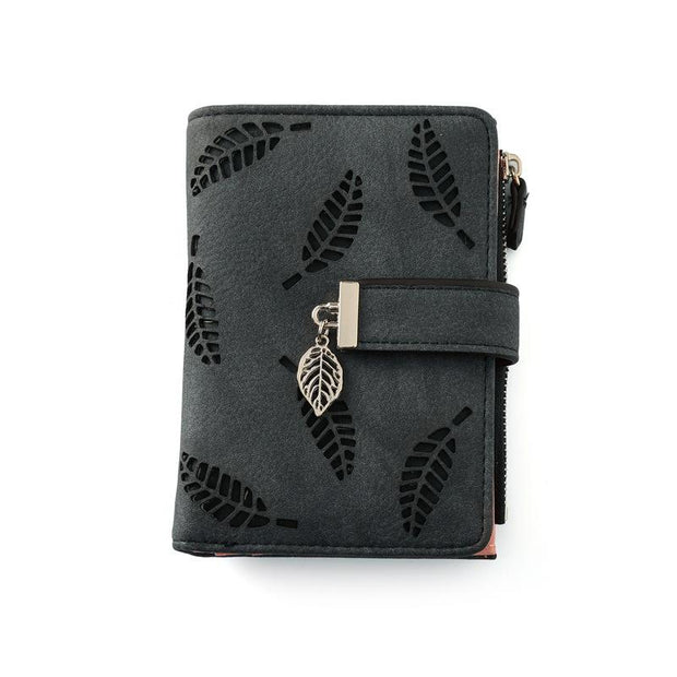 New Retro Hollow Card Leather Wallet