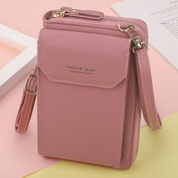 Casual Large Capacity Leather Shoulder Phone Bag