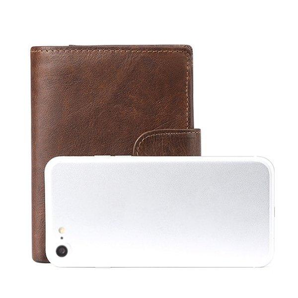 Genuine Leather Vintage Multi-card Slots Driver License Trifold Wallet
