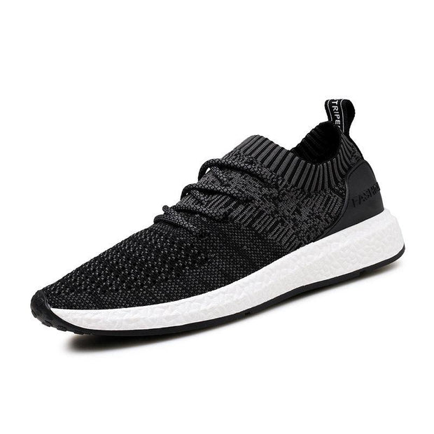 Men Fabric Breathable Lace Up Casual Running Shoes