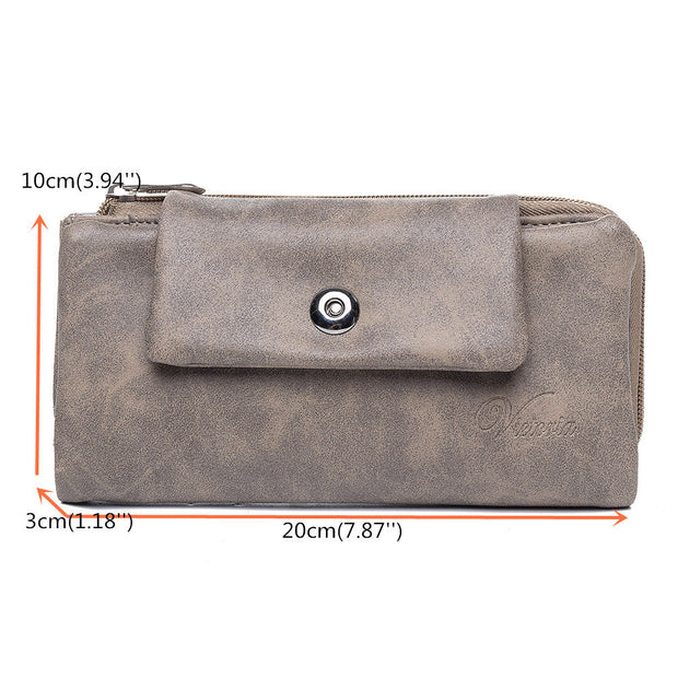 Women Cards Holder Soft Leather Purse Wallet