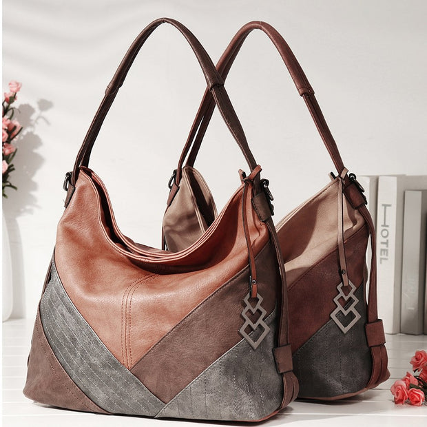 Women Multi-carry Casual Patchwork Tote Bag Crossbody Bag