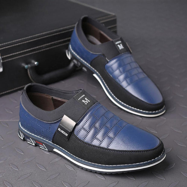 Men Genuine Leather Stitching Casual Shoes(Buy 2 get -10% by code:BUY2)