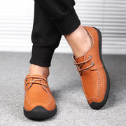 Men Comfy Soft Lace Up Leather Casaul Shoes