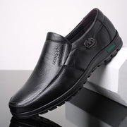 Men Leather Soft Business Loafers Shoes