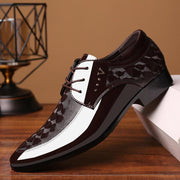 Men Casual Leather Business Dress LaceUp Shoes