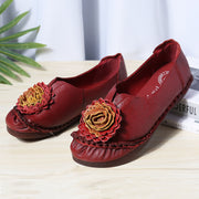 Women FlowersFolkways Style Soft Leather Loafers