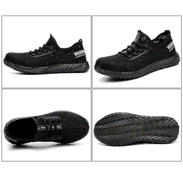 Men Breathable Knitted Fabric Outdoor Safety Shoes