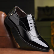 Men's Pointed Low-heeled Dress Shoes
