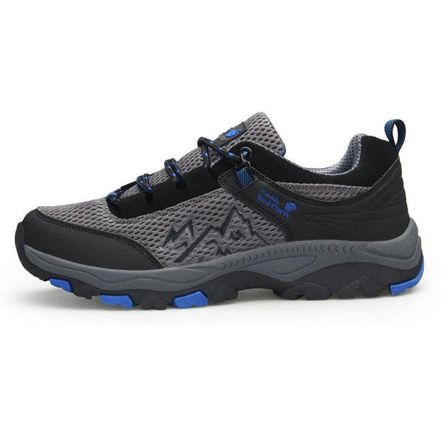 Men Breathable Non Slip Lace Up Climbing Hiking Shoes