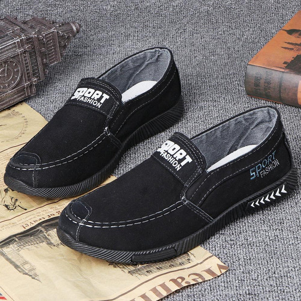 Men Casual Canvas Comfy Soft Flats Shoes