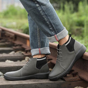 Men Cow Leather Outdoor Non-Slip Resistant Ankle Boots