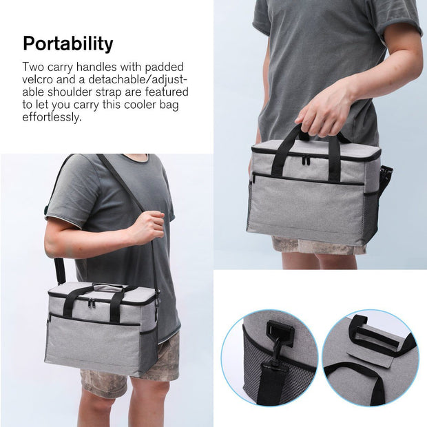 Men's Large Capacity Crossbody Bag Ecofriendly Picnic Bag