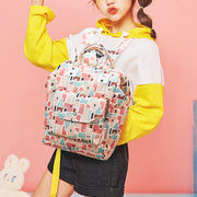 Women Canvas Casual Student Laptop Backpack