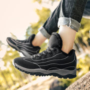 Women's Warm Suede Plus-Sizes Outdoors Athletic Casual Hiking Sneakers