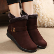 Women's Cotton Boots Middle And Old Aged Flat Thick Shoes