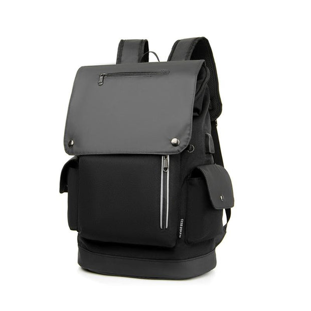 Men's Casual USB Charging Travel Student Business Backpack