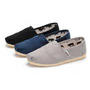 Women's Canvas Flat Head Lightweight Comfortable Shoes