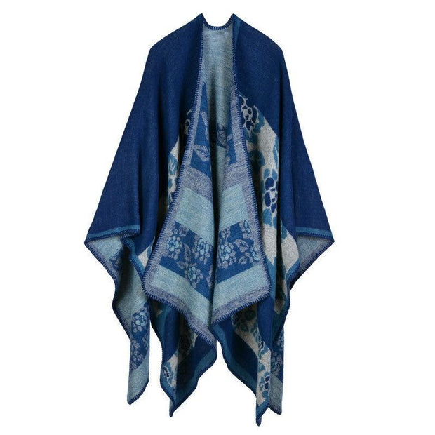 Autumn and winter wild plaid ladies travel shawl imitation cashmere scarf