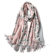 2019 new warm scarf female autumn and winter wild cashmere shawl bib double-sided scarf