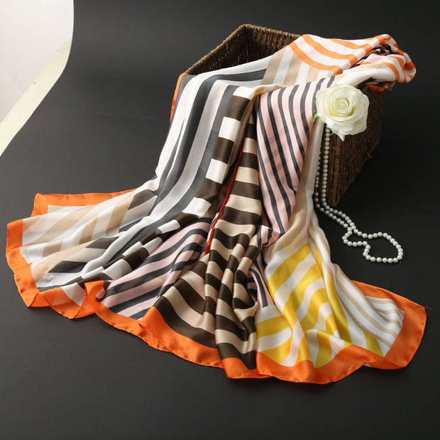 2019 new silk scarf female silk a variety of styles trendscarf tide