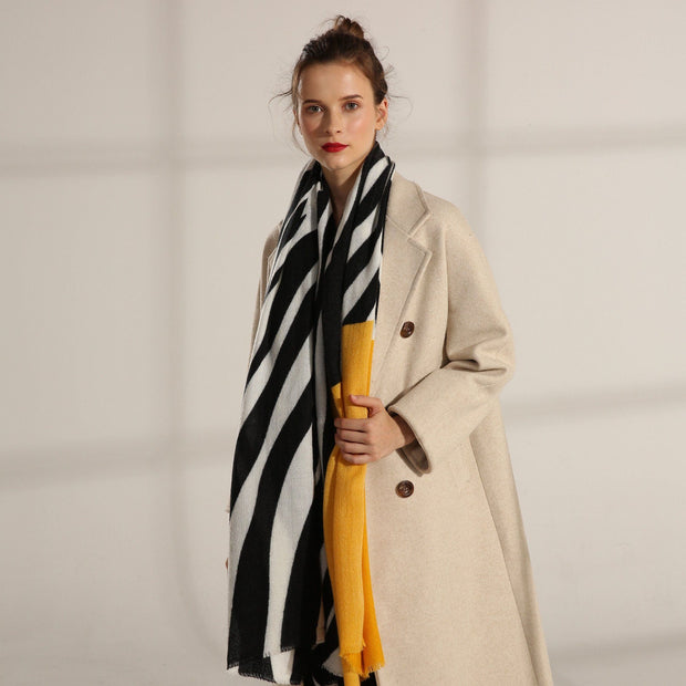 2019 women's cashmere  thick warm scarf shawl