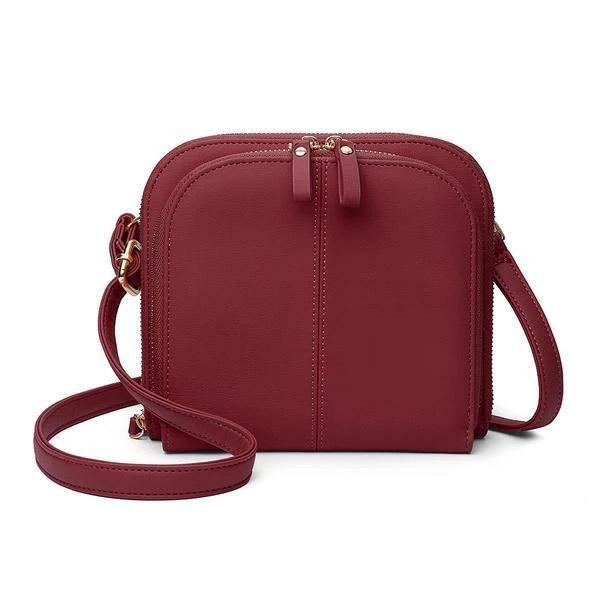 Classic Solid Color Crossbody Shoulder Bag