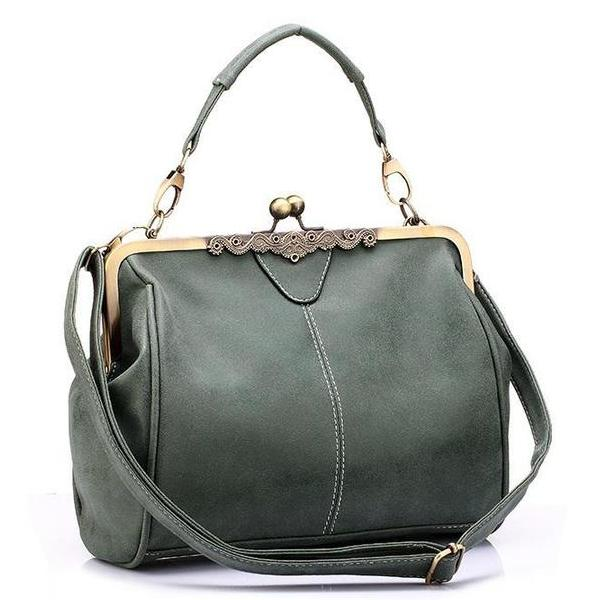 Retro Solid Handbag Shoulder Bag