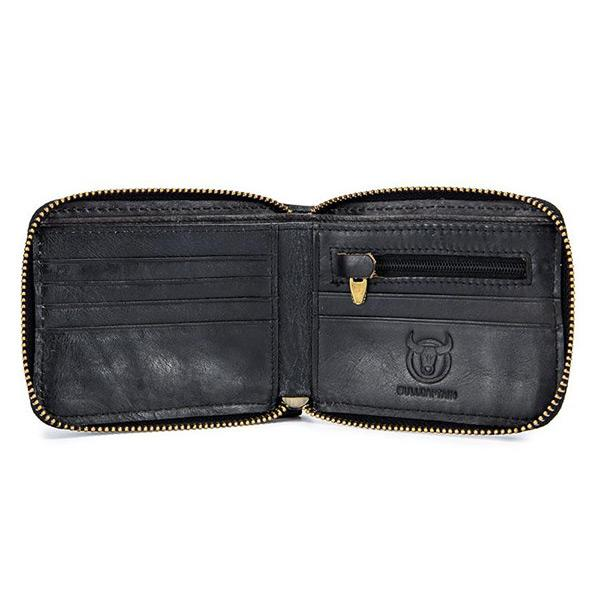 Zipper Leather Wallet