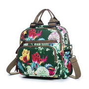 Leisure Style Outdoor Flower Pattern Shoulder Bag Backpack