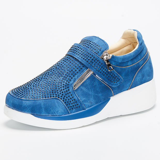 Women Round Toe Mesh Wedges Casual Sneakers