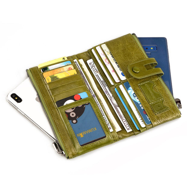 Genuine Leather RFID Long Wallet(Buy 2 get -10% by code:BUY2)