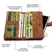 Multi-slot Solid Long Wallet