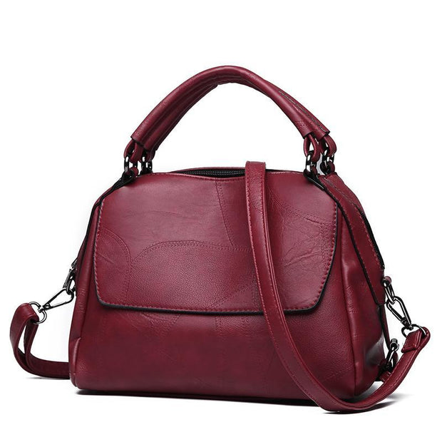 Pierrebuy _ Fashion New Boston Women Handbags Stitching bags Retro Women Shoulder Bags 115863_designer bags