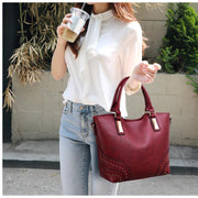 Pierrebuy _ Fashion 3PC/Set Women Bags High Quality PU Shoulder Bag Solid Crossbody Bags 116920_designer bags