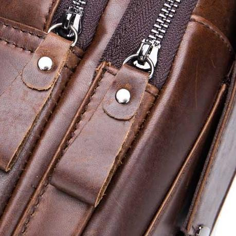 Vintage Genuine Leather Capacity Sling Bag
