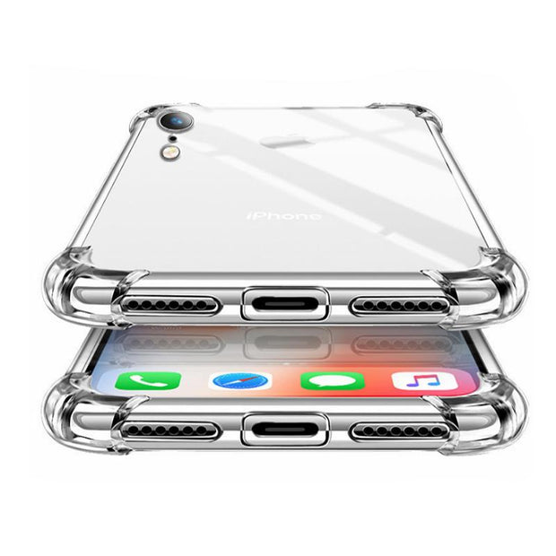 Four Corners Shock-Absorption Anti-Scratch Transparent Phone Case